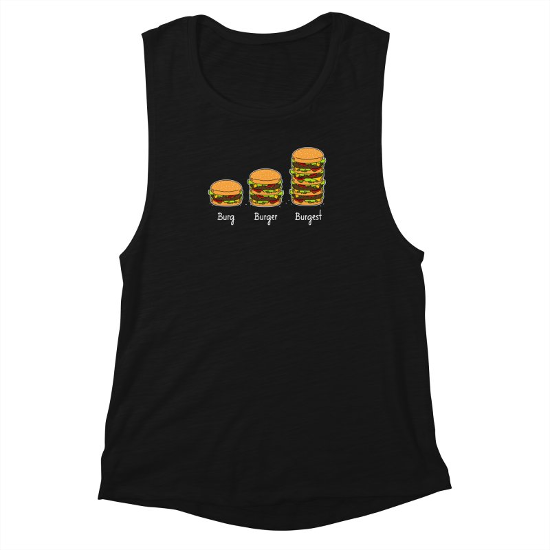 Burger explained. Burg. Burger. Burgest. Women's Muscle Tank by shiningstar's Artist Shop