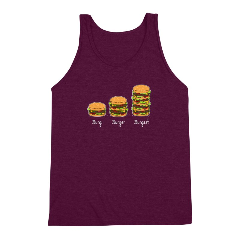 Burger explained. Burg. Burger. Burgest. Men's Triblend Tank by shiningstar's Artist Shop