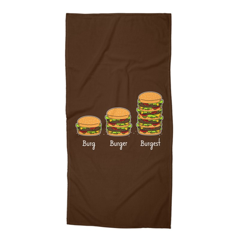 Burger explained. Burg. Burger. Burgest. Accessories Beach Towel by shiningstar's Artist Shop