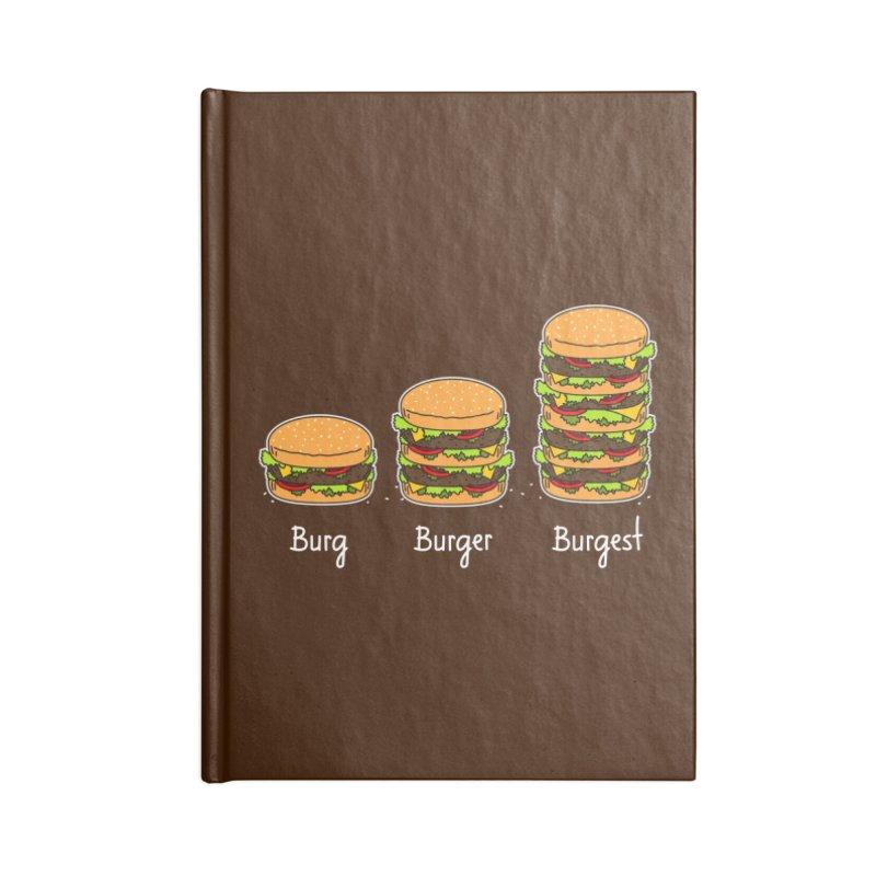 Burger explained. Burg. Burger. Burgest. Accessories Notebook by shiningstar's Artist Shop