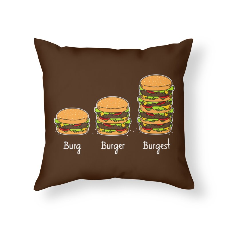 Burger explained. Burg. Burger. Burgest. Home Throw Pillow by shiningstar's Artist Shop