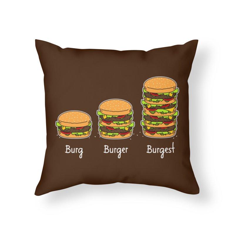 Burger explained. Burg. Burger. Burgest. Home Throw Pillow by shiningstar's Artist Shop