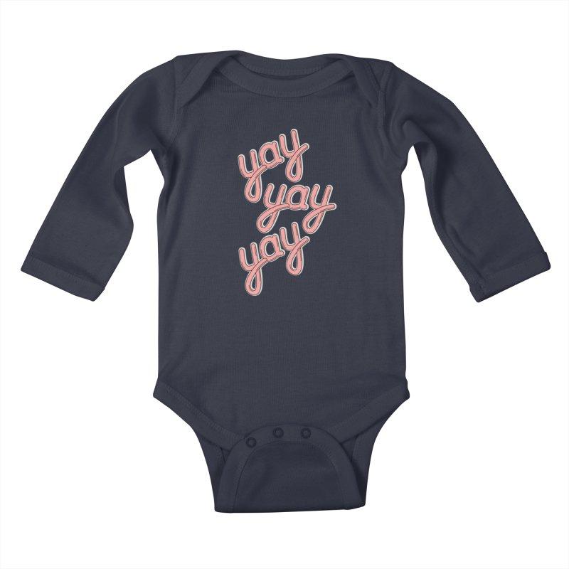 YAY YAY YAY! Kids Baby Longsleeve Bodysuit by shiningstar's Artist Shop