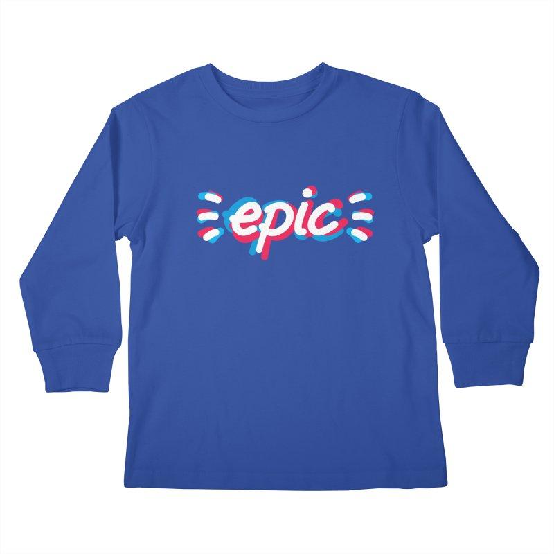 Epic! Kids Longsleeve T-Shirt by shiningstar's Artist Shop