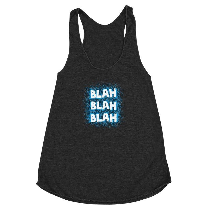 Blah blah blah Women's Racerback Triblend Tank by shiningstar's Artist Shop