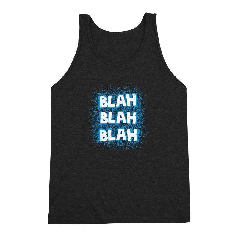 Blah blah blah Men's Triblend Tank by shiningstar's Artist Shop