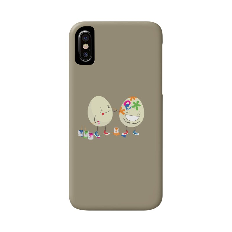Happy Easter eggs decorating each other Accessories Phone Case by shiningstar's Artist Shop