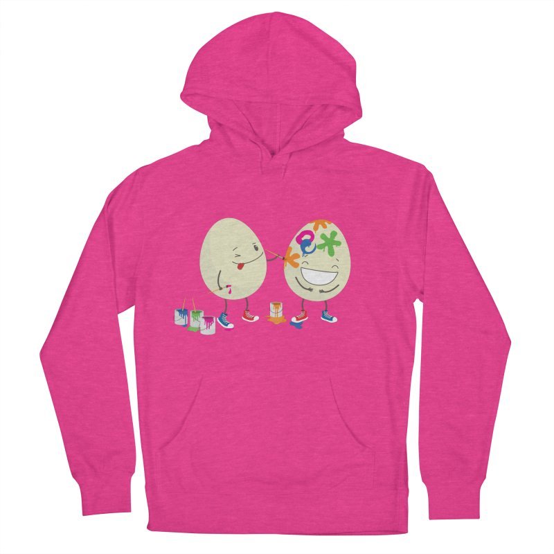 Happy Easter eggs decorating each other Women's Pullover Hoody by shiningstar's Artist Shop
