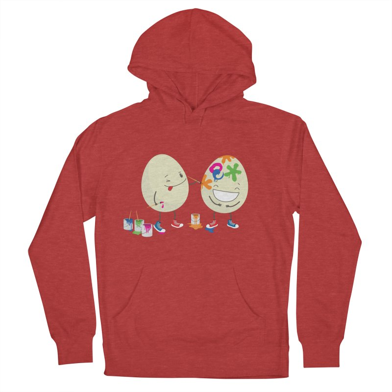 Happy Easter eggs decorating each other Men's Pullover Hoody by shiningstar's Artist Shop