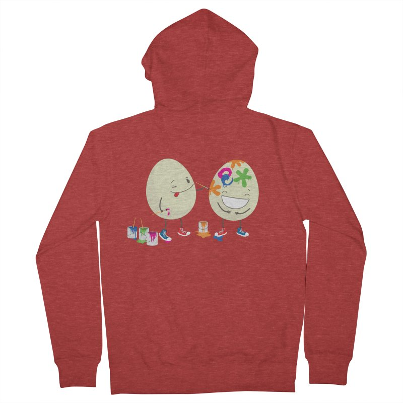 Happy Easter eggs decorating each other Men's Zip-Up Hoody by shiningstar's Artist Shop