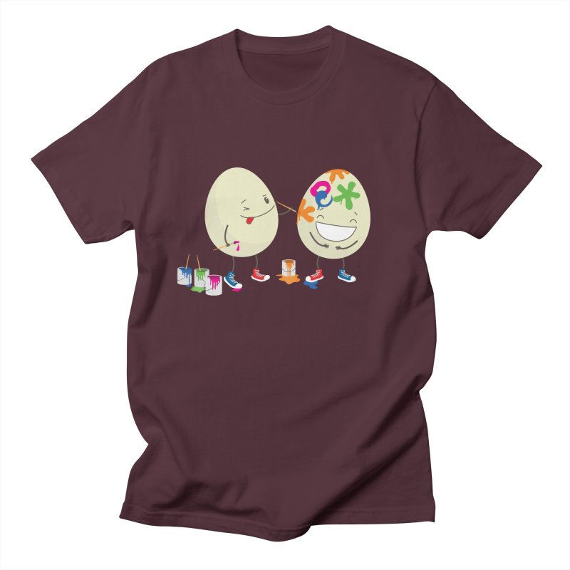 Happy Easter eggs decorating each other Men's T-Shirt by shiningstar's Artist Shop