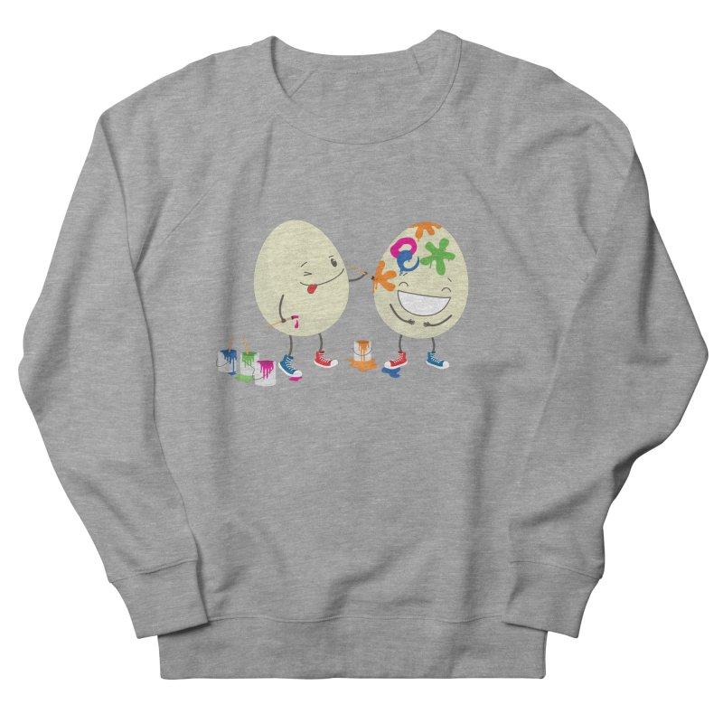 Happy Easter eggs decorating each other Women's Sweatshirt by shiningstar's Artist Shop