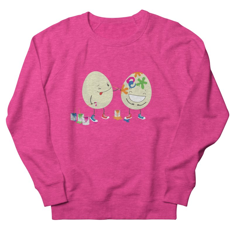 Happy Easter eggs decorating each other Men's Sweatshirt by shiningstar's Artist Shop