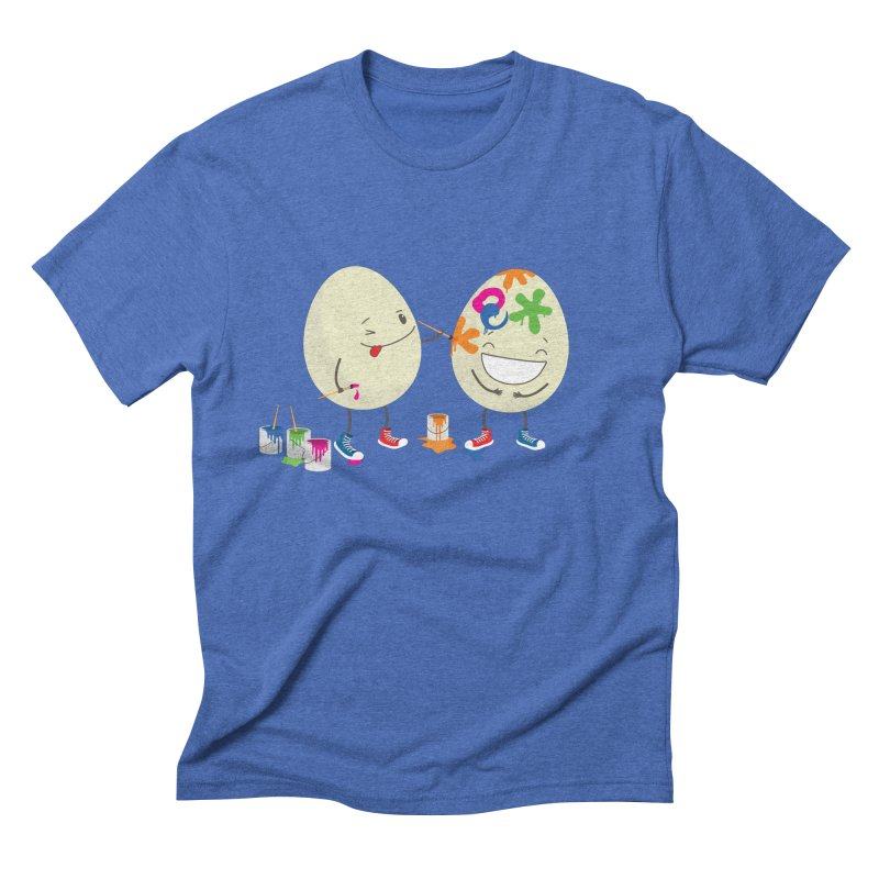 Happy Easter eggs decorating each other Men's Triblend T-shirt by shiningstar's Artist Shop