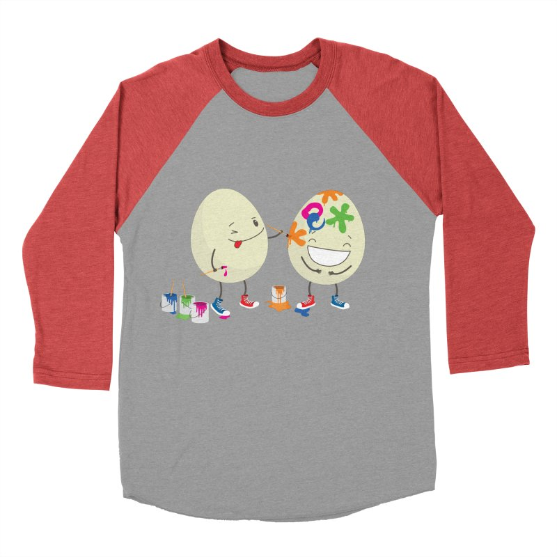 Happy Easter eggs decorating each other Women's Baseball Triblend T-Shirt by shiningstar's Artist Shop