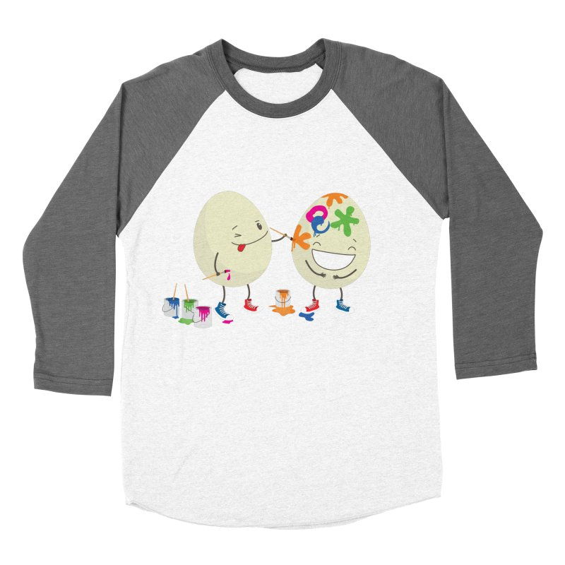 Happy Easter eggs decorating each other Men's Baseball Triblend T-Shirt by shiningstar's Artist Shop