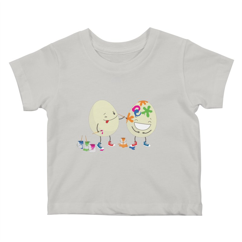 Happy Easter eggs decorating each other Kids Baby T-Shirt by shiningstar's Artist Shop