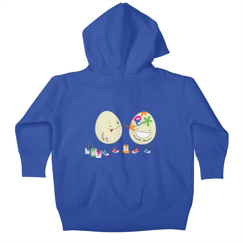 Happy Easter eggs decorating each other Kids Baby Zip-Up Hoody by shiningstar's Artist Shop