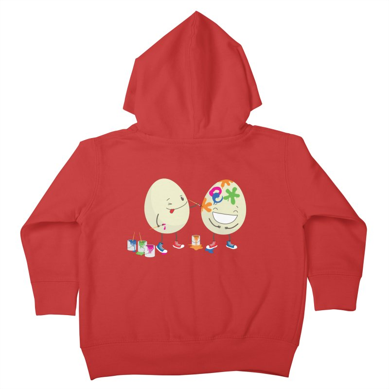 Happy Easter eggs decorating each other Kids Toddler Zip-Up Hoody by shiningstar's Artist Shop