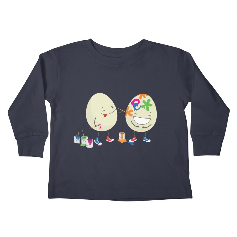 Happy Easter eggs decorating each other Kids Toddler Longsleeve T-Shirt by shiningstar's Artist Shop