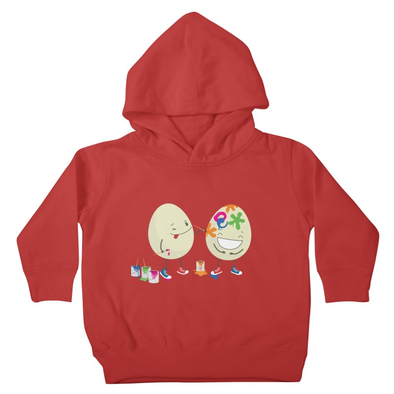 Happy Easter eggs decorating each other Kids Toddler Pullover Hoody by shiningstar's Artist Shop