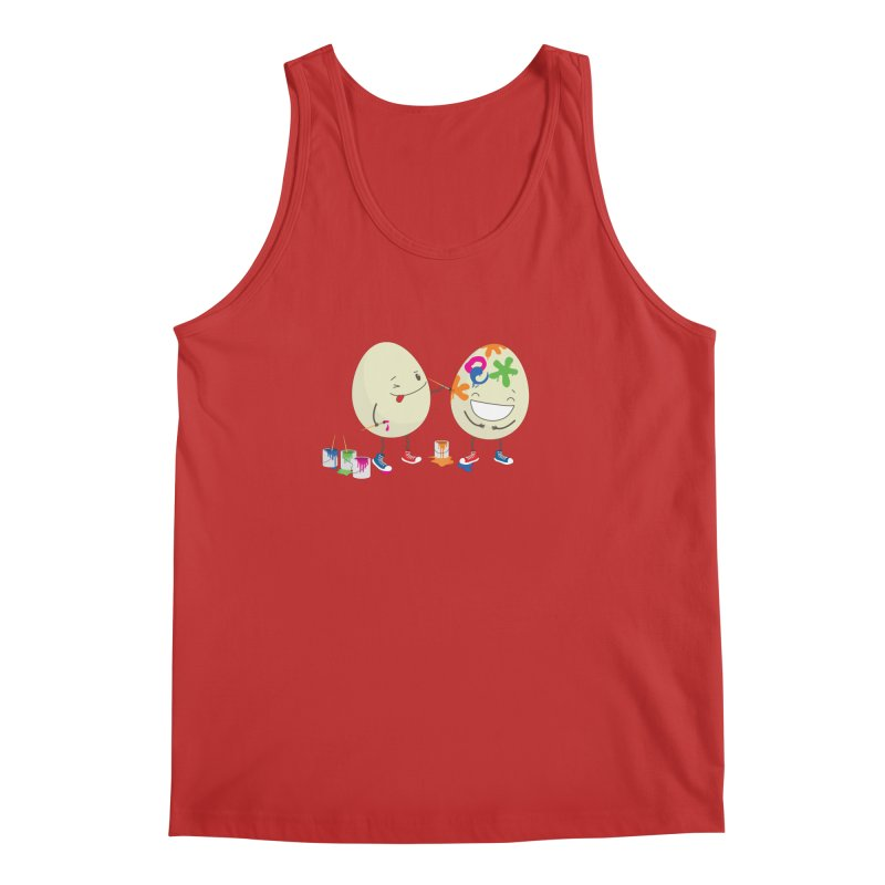 Happy Easter eggs decorating each other Men's Tank by shiningstar's Artist Shop