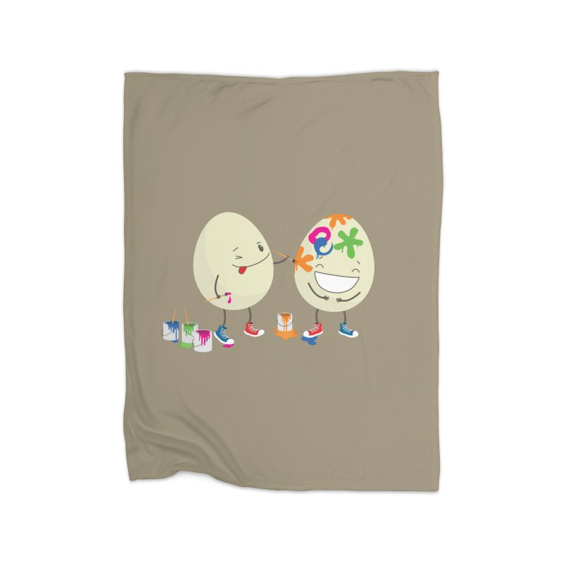 Happy Easter eggs decorating each other Home Blanket by shiningstar's Artist Shop