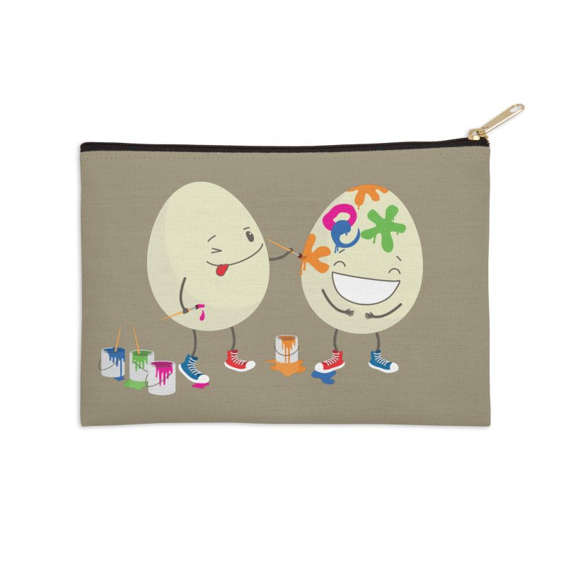 Happy Easter eggs decorating each other Accessories Zip Pouch by shiningstar's Artist Shop
