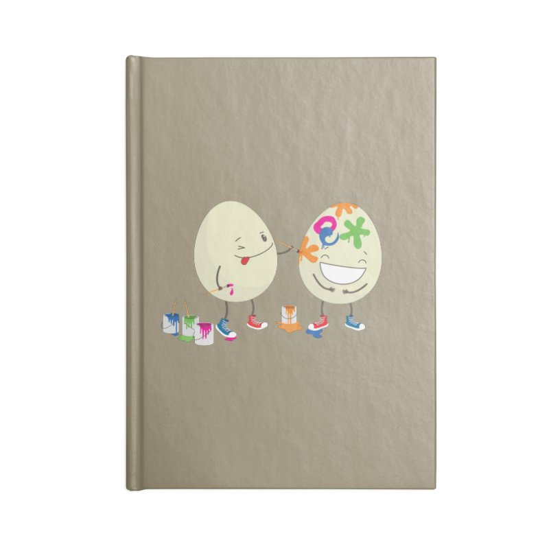 Happy Easter eggs decorating each other Accessories Notebook by shiningstar's Artist Shop