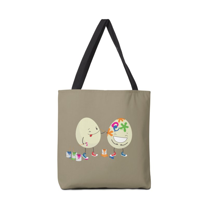Happy Easter eggs decorating each other Accessories Bag by shiningstar's Artist Shop