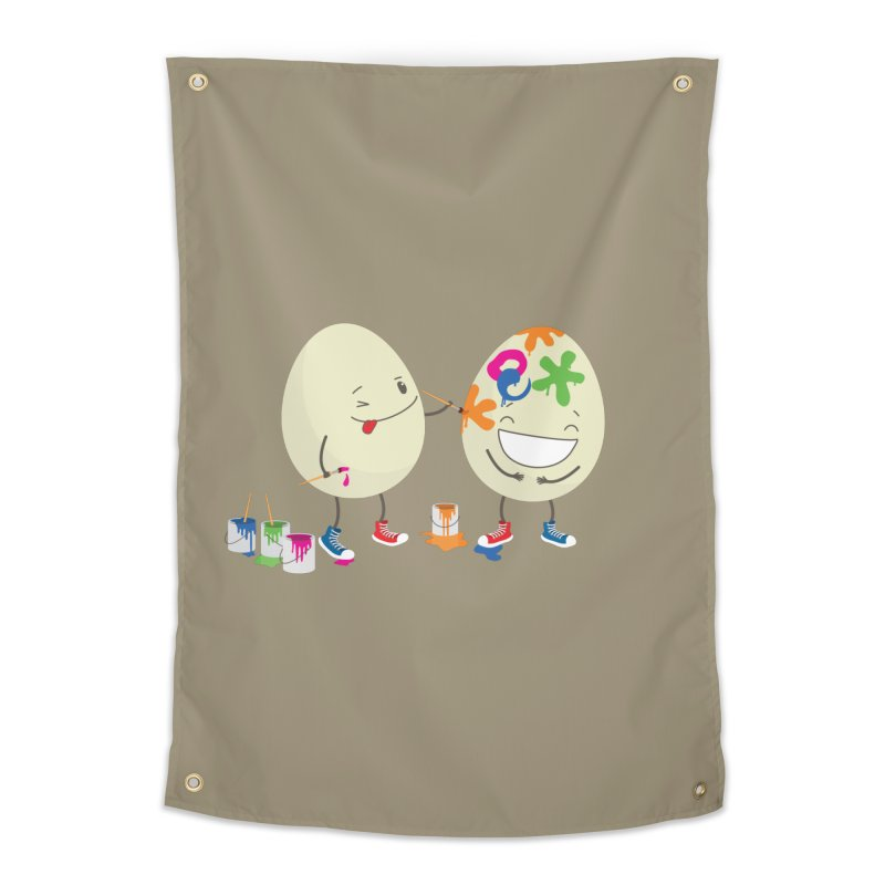 Happy Easter eggs decorating each other Home Tapestry by shiningstar's Artist Shop