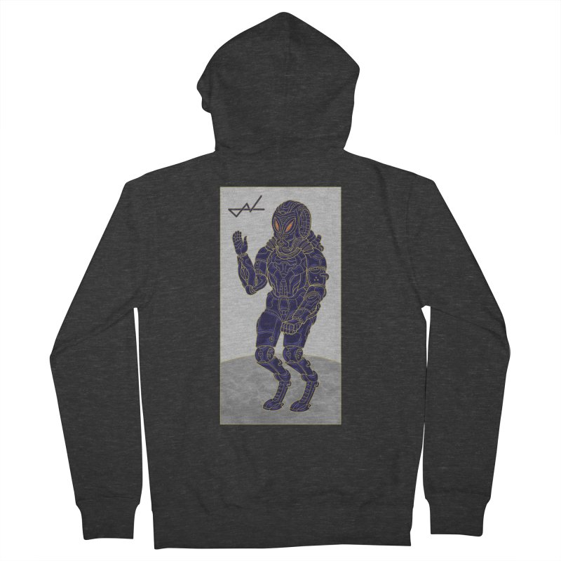 Alien Astronaut Women's Zip-Up Hoody by shinobiskater's Artist Shop