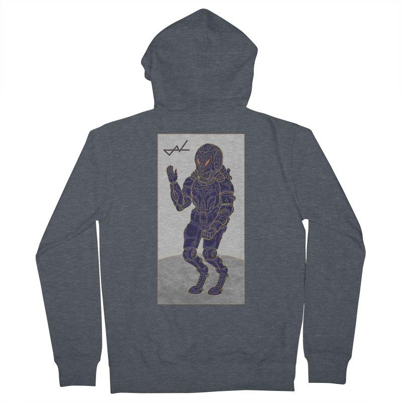 Alien Astronaut Men's Zip-Up Hoody by shinobiskater's Artist Shop