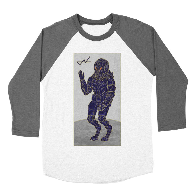 Alien Astronaut Men's Baseball Triblend T-Shirt by shinobiskater's Artist Shop