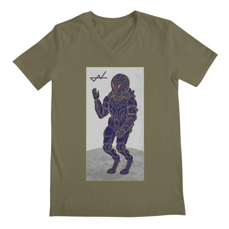 Alien Astronaut Men's V-Neck by shinobiskater's Artist Shop
