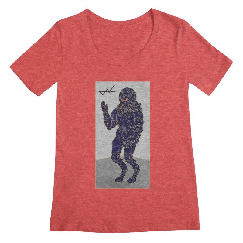 Alien Astronaut Women's Scoopneck by shinobiskater's Artist Shop