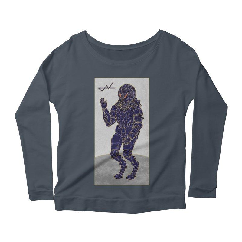 Alien Astronaut Women's Longsleeve Scoopneck  by shinobiskater's Artist Shop