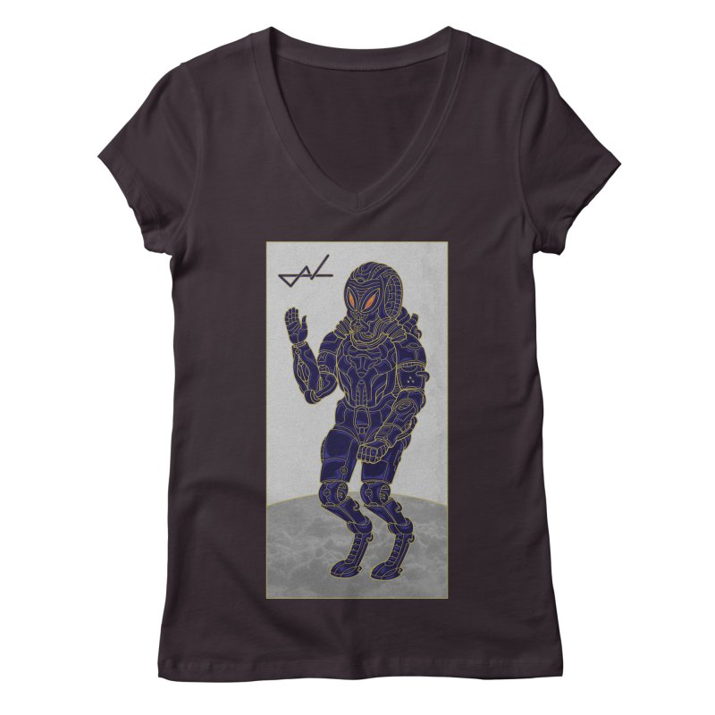 Alien Astronaut Women's V-Neck by shinobiskater's Artist Shop