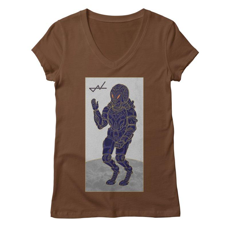 Alien Astronaut Women's V-Neck by shinobiskater's Artist Shop