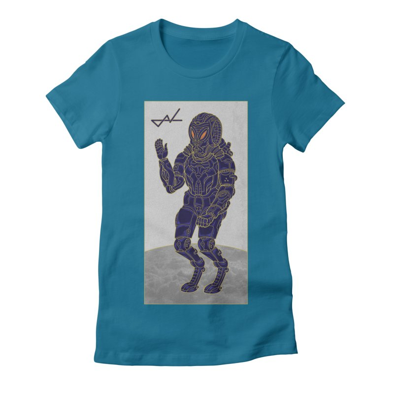 Alien Astronaut Women's Fitted T-Shirt by shinobiskater's Artist Shop