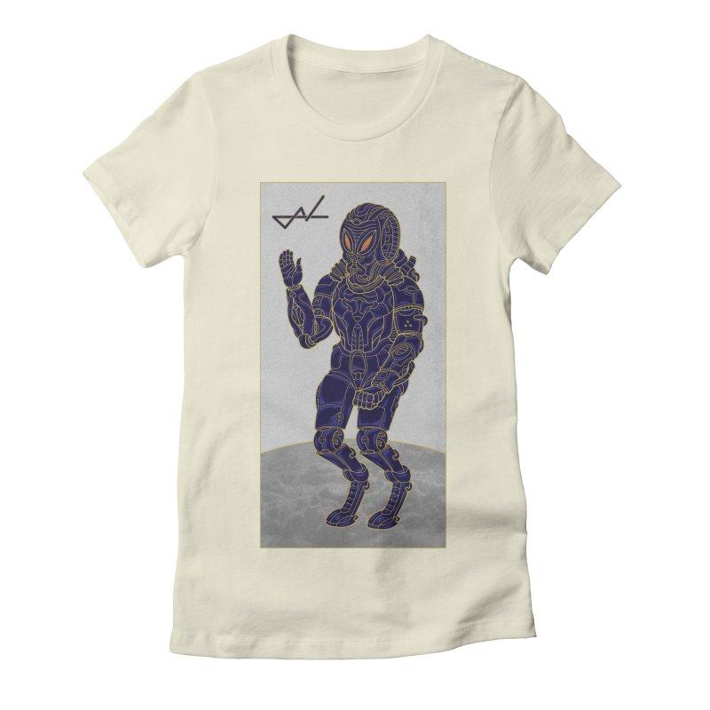 Alien Astronaut Women's Fitted T-Shirt by shinobiskater's Artist Shop