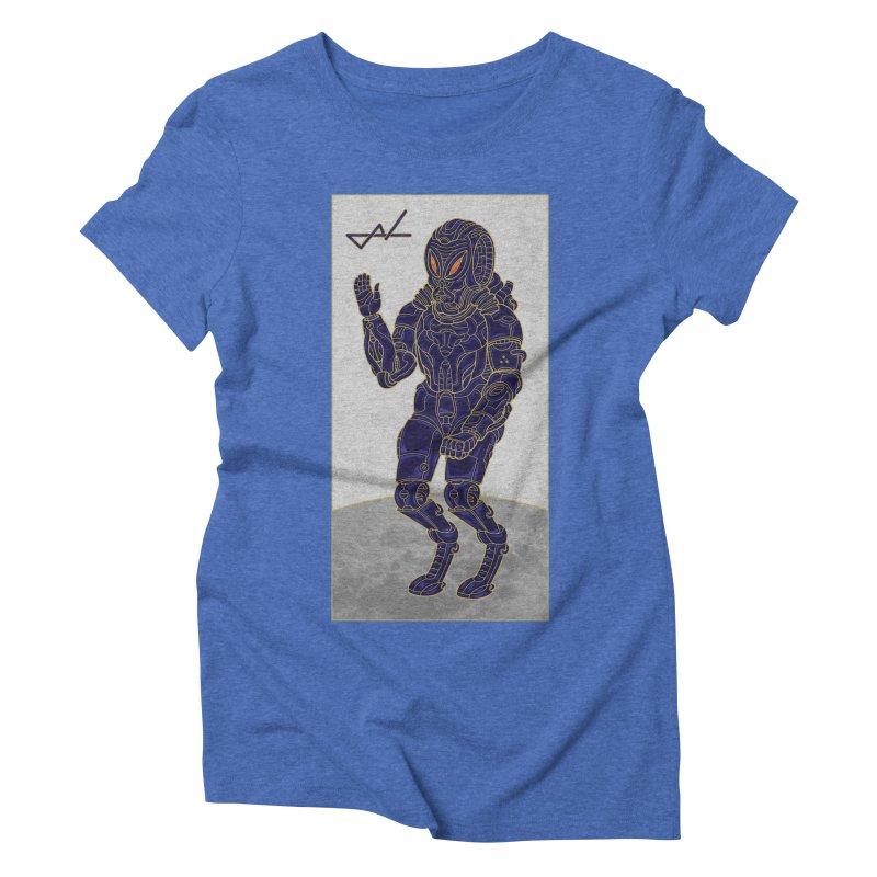 Alien Astronaut Women's Triblend T-Shirt by shinobiskater's Artist Shop