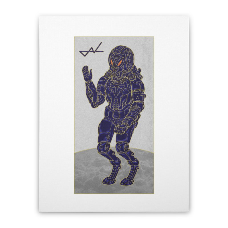 Alien Astronaut Home Stretched Canvas by shinobiskater's Artist Shop