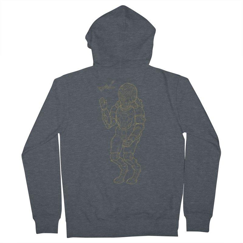 Alien Astronaut Line Men's Zip-Up Hoody by shinobiskater's Artist Shop