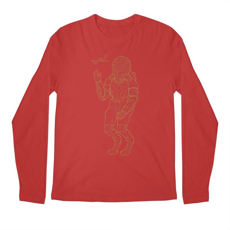 Alien Astronaut Line Men's Longsleeve T-Shirt by shinobiskater's Artist Shop