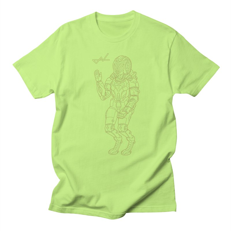 Alien Astronaut Line Women's Unisex T-Shirt by shinobiskater's Artist Shop