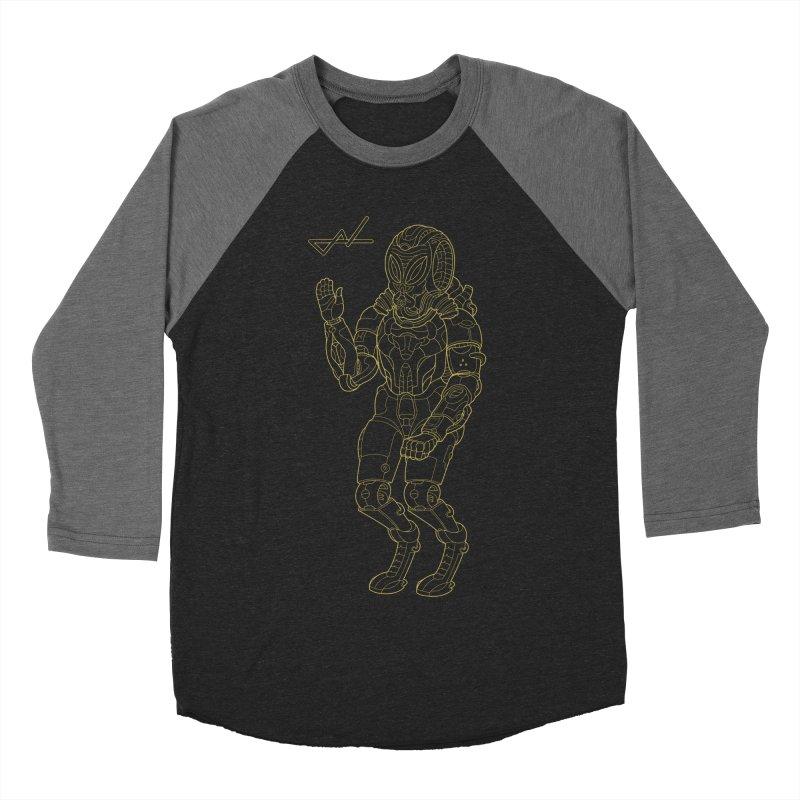 Alien Astronaut Line Men's Baseball Triblend T-Shirt by shinobiskater's Artist Shop