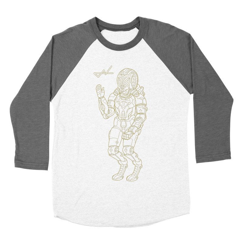 Alien Astronaut Line Men's Baseball Triblend T-Shirt by shinobiskater's Artist Shop