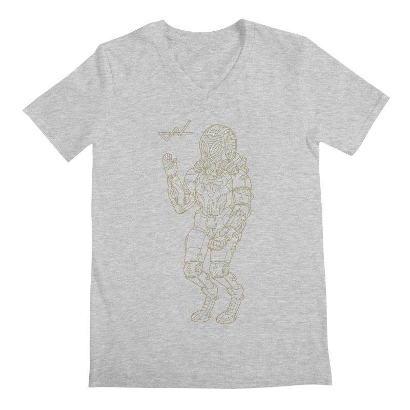 Alien Astronaut Line Men's V-Neck by shinobiskater's Artist Shop