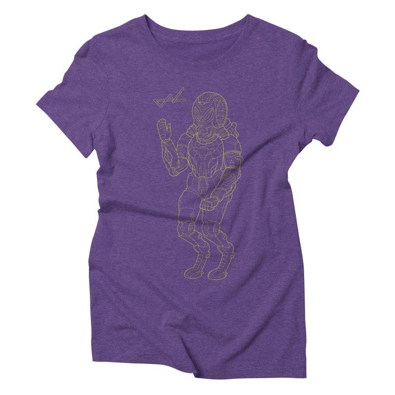 Alien Astronaut Line Women's Triblend T-Shirt by shinobiskater's Artist Shop